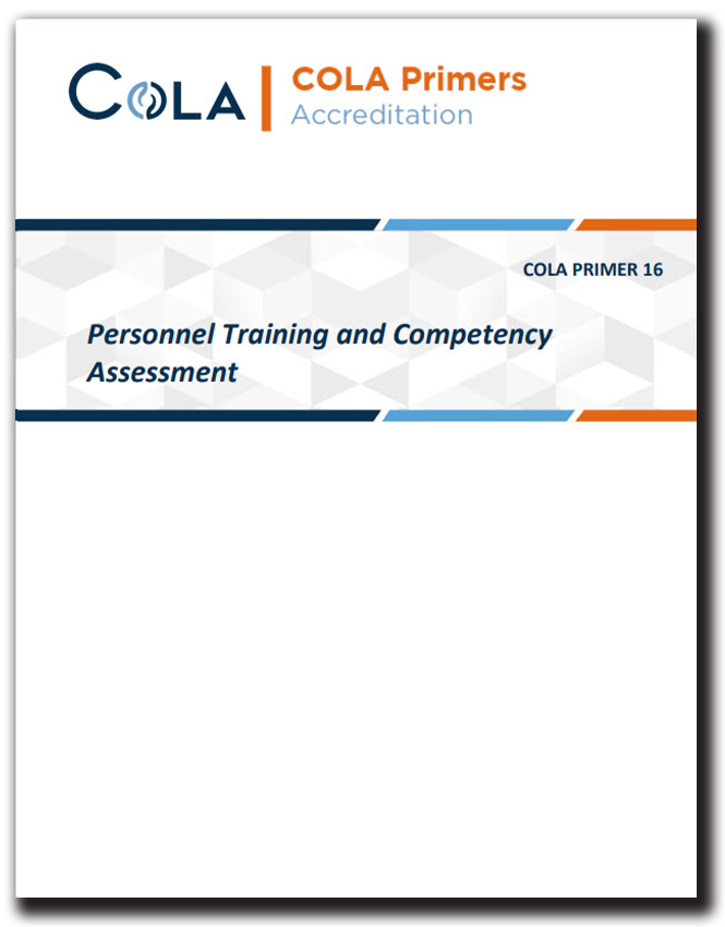 Personnel Training and Competency Assessment - Primer Cover